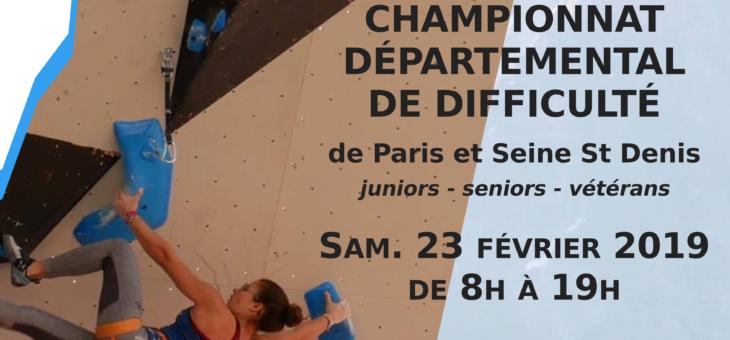 Championnat Départemental de Difficulté (Paris et Seine St Denis)